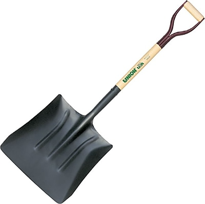 UnionTools® Tempered Steel Square Coal Shovel, 13 1/2 in (W), 14 1/2 in (L), 48 in Handle