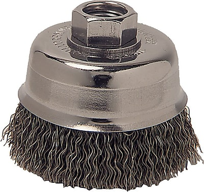 Anchor Brand CS Wire Crimped Cup Brush, 4 in (Dia), 0.014 in (Dia) Bristle, 4 in (L) Trim 768872