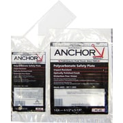 Anchor Brand® Clear Polycarbonate Safety Plate, 2 in (W), 4 1/4 in (L)