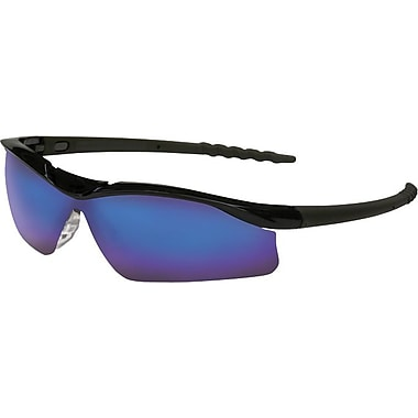 Anchor® ANSI Z87 Wrap-Around Lens Safety Glasses, Blue Diamond Mirror