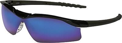 Anchor® ANSI Z87 Wrap-Around Lens Safety Glasses, Blue Diamond Mirror