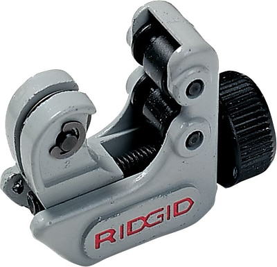 Ridgid® Screw Feed Close Quarters Midget Tube Cutter, 1/8 - 5/8 in (OD), 2 1/8 in (OAL)