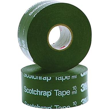 Scotchrap™ Black PVC Backing Premium Grade Corrosion Protection Tape, 100 ft (L) x 2 in (W)