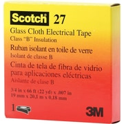 Scotch® White Glass Cloth Backing 27 Electrical Tape, 1/2 in (W), 66 ft (L), 7 mil (T)