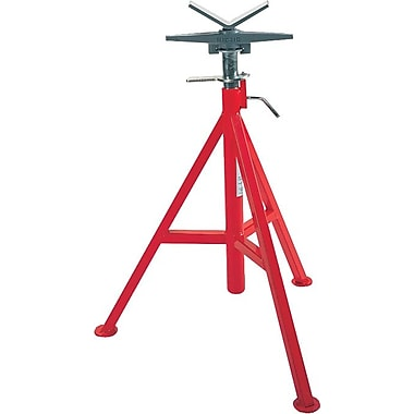 Ridgid® Low V Head Pipe Stand, 20 - 38 in Height Adjustment, 12 in Pipe Capacity, 2500 lb