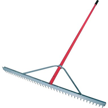 Razor-Back® Aluminum Tine Contractor Lute Rake, 36 in (W) x 3 7/8 in (H) Blade, 82 1/4 in (L)