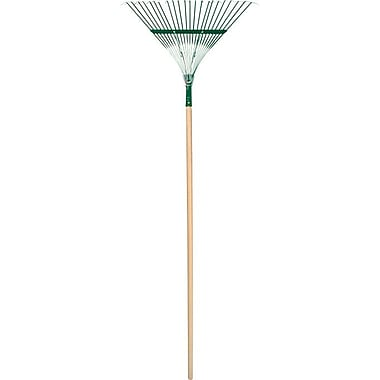 UnionTools® Steel Tine Lawn Leaf Deluxe Rake, 23 in (W) X 3 1/2 in (H) Blade, 63 7/8 in (L)