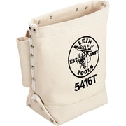 Klein Tools® Canvas Bull Pin And Bolt Rectangular Tunnel Tool Bag, 3 Compartments, 10 in (H)