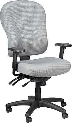 Tempur-Pedic TP4000 Fabric Computer and Desk Office Chair, Grey, Fixed Arm (TP4000-GREY)