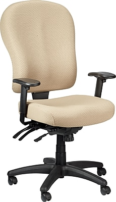 Tempur-Pedic TP4000 Fabric Computer and Desk Office Chair, Beige, Fixed Arm (TP4000-BEIGE)