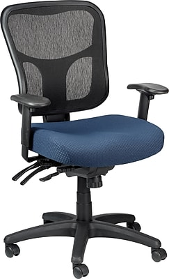 Tempur-Pedic TP8000 Mesh Computer and Desk Office Chair, Navy, Fixed Arm (TP8000-NAVY)