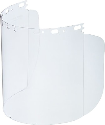 Protecto-Shield® Propionate Face Shield Visor, 8 1/2 in Length x 15 in (W) x 0.07 in (T)
