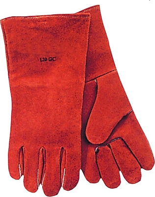 Anchor Brand® Split Cowhide Standard Wing Thumb Quality Welding Gloves, Large, Russet