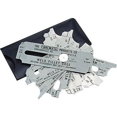 Fibre-Metal® Stainless Steel Blade Weld Fillet Gauge Set, 1/8 - 1 in
