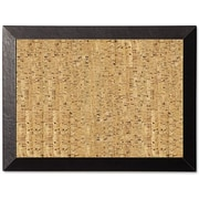 MasterVision® Natural Cork Bulletin Board Black Kamashi 18x24