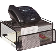 Staples® - Support pour téléphone/moniteur ACL en mailles et fil métallique, noir