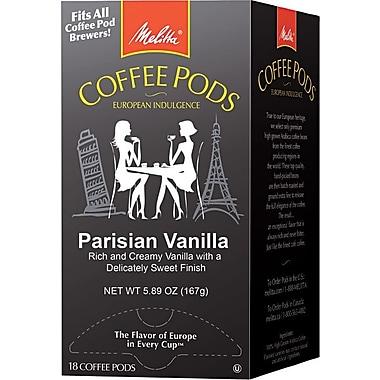 Melitta® Parisian Vanilla Coffee Pods, Regular, 18 Pods