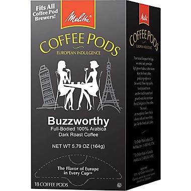 Melitta® Buzzworthy Coffee Pods, Regular, 18 Pods