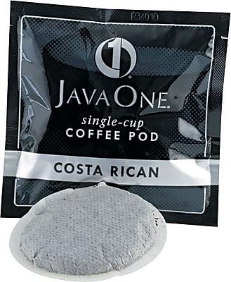 Java One® Single Cup Estate Costa Rican Ground Coffee, Regular, .3 oz., 14 Pods