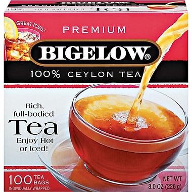 Bigelow Premium Ceylon Tea, Regular, 100 Tea Bags/Box