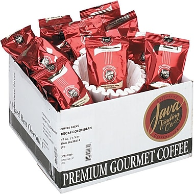 Distant Lands Colombian Ground Coffee, Decaffeinated, 1.5 oz., 42 Packets
