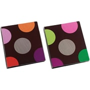 "1"" Carolina Pad® Hot Chocolate Collection Vinyl Binder with Round Rings"