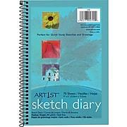 "Pacon Art 1st Sketch Diary, 9"" x 6"", White, 70 Sheets/Pad (4790)"