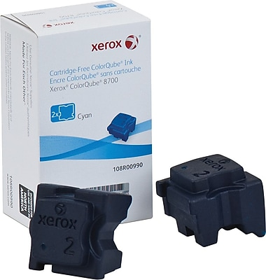 Xerox ColorQube 8700 Cyan Solid Ink Sticks (108R00990), 2/Pack