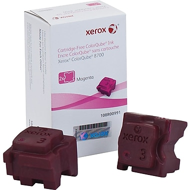 Xerox® 108R00991 ColorQube Magenta Solid Ink Sticks, 2/Pack