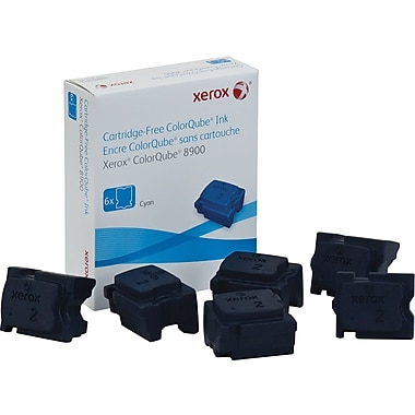 Xerox ColorQube 8900 Cyan Solid Ink Sticks (108R01014), 6/Pack