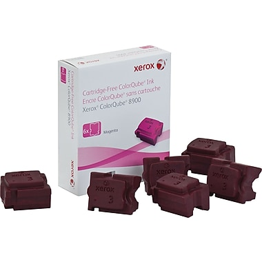 Xerox ColorQube 8900 Magenta Solid Ink Sticks (108R01015), 6/Pack