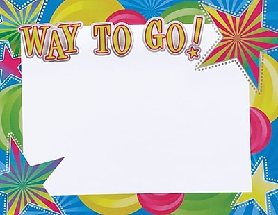 Great Papers® Way To Go Foil Certificate