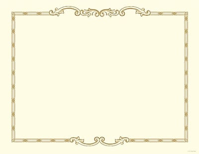 Great Papers® Link Cast Iron Foil Certificate, 12/Pack