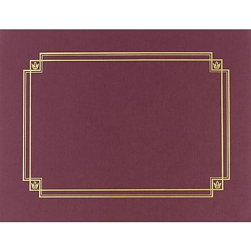 Great Papers® Linen Certificate Covers, Burgundy, 3/Pack   Staples
