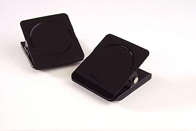 Staples® Square Magnetic Clips, Black, 1 3/4