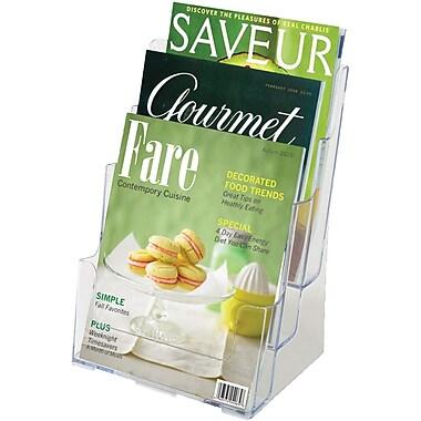 Staples® Multi-Pocket Acrylic Magazine Holder, Clear