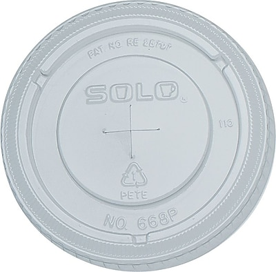 SOLO Straw Slot Lids for Galaxy Cold Cups, 16 oz., 1,000/Case 861869
