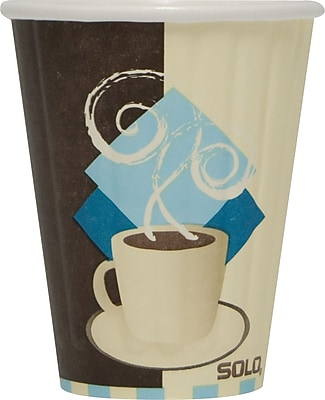 SOLO® Tuscan Cafe™ Duo Shield® Insulated Paper Hot Cups, 8 oz., 50/Pack