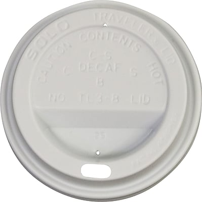 Solo® Symphony® Plastic Lids, for 8 oz. Trophy Cups White, 1,000/Ct