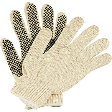 Ambitex Work Gloves, PVC 1-Sided Dotted, Medium, White, 12Pairs/Box