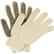 Ambitex Work Gloves, PVC 1-Sided Dotted, Medium, White, 12Pairs/Box