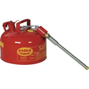 EAGLE Type II Flame Retardant Galvanized Steel Red Safety Can, 2 Gallon