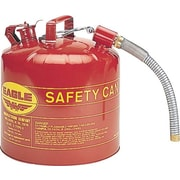 "Eagle Type II Safety Can, 5 Gallons, 12"" Flexible Spout"