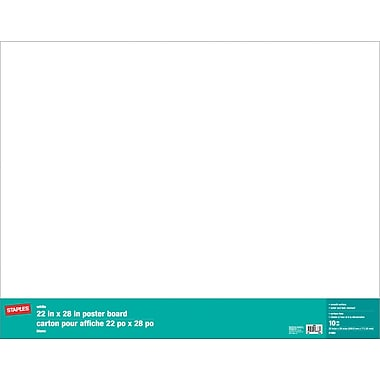 Staples® Poster Board, 22