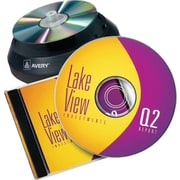 Avery 8965 Inkjet CD/DVD Design Kit Labeling System, Non-Glossy (Matte) Labels/Inserts