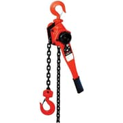 Jet® JLP Series Powder Coat Steel Lever Hoist, 6.8 in (H) x 6.6 in (W) x 14.7 in (L), 1102 lbs