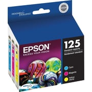 Epson® 125 (T125520-S) Cyan, Magenta & Yellow Ink Cartridges, 3/Pack