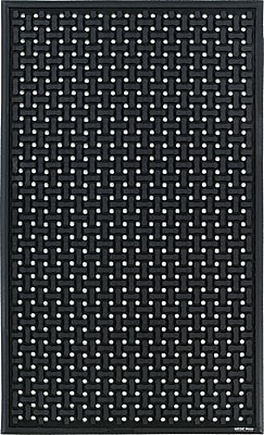 The Andersen Company Comfort Flow Anti-Fatigue Mat, Black, 2'W x 3'L