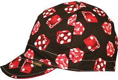 LAPCO Welding Cap, Reversible, Assorted Colors, Size 7 1/2