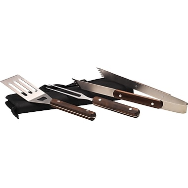 3-Piece BBQ Tool Set with Case